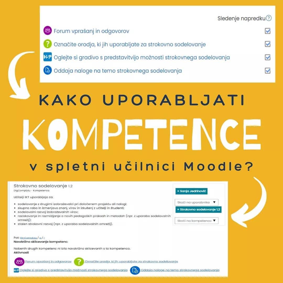 Kako uporabljati kompetence v spletni učilnici Moodle?