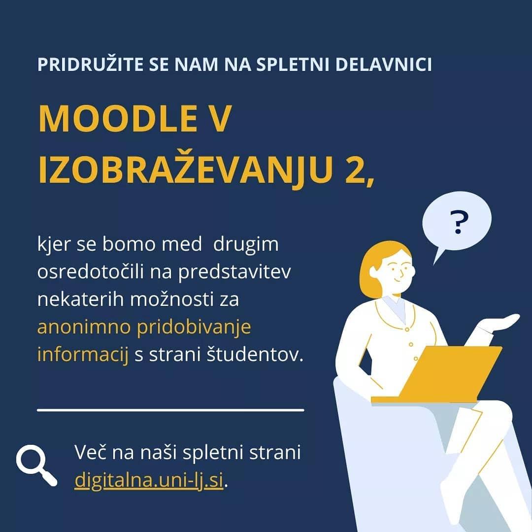 Pridobivanje (anonimnih) povratnih informacij v spletni učilnici Moodle