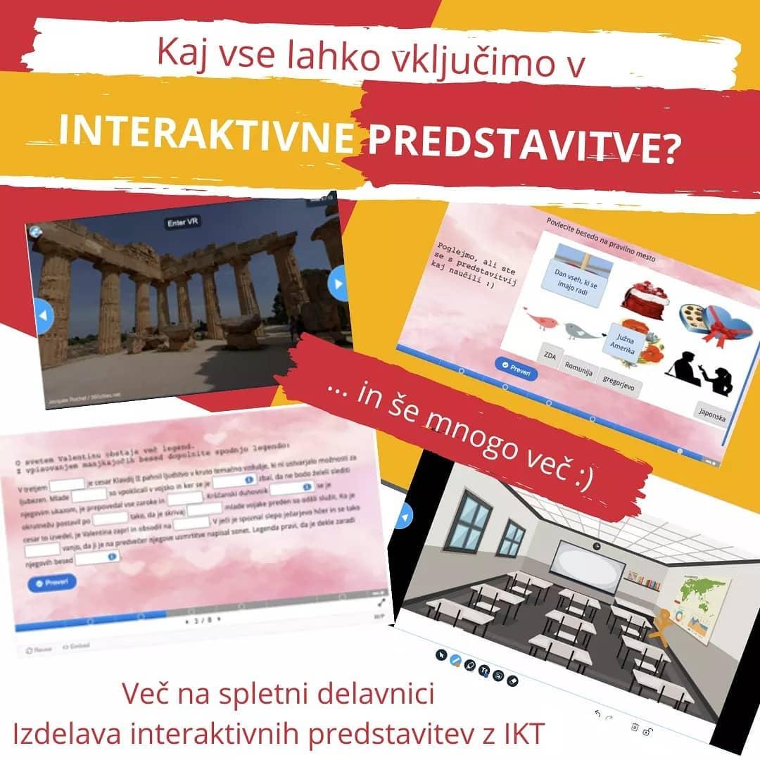 Kaj vse lahko vključimo v interaktivne predstavitve?