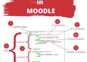 XML format za uvoz vprašanj v spletno učilnico Moodle