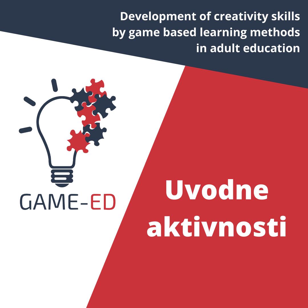 GAME-ED: Uvodne aktivnosti