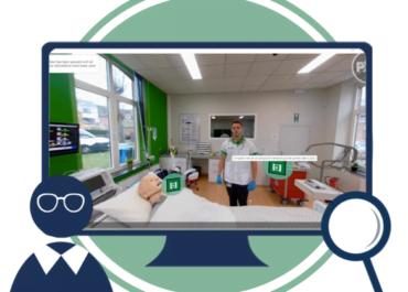 Učenje zdravstvene nege z 360-stopinjskimi videoposnetki