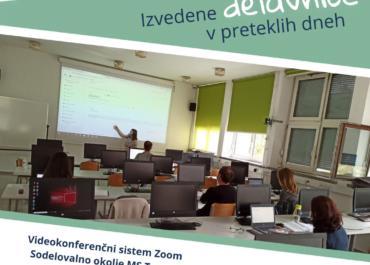 Delavnice Zoom, MS Teams, Moodle ter sodelovalno učenje na UL NTF, UL ZF, UL PF in UL FŠ