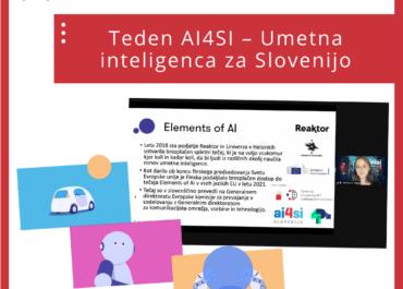 Teden AI4SI